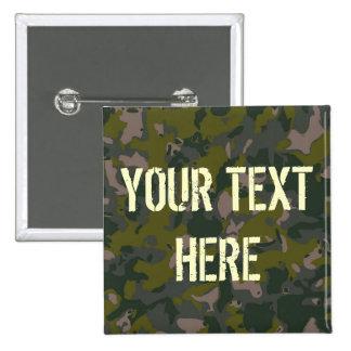 Les militaires camouflent badge carré 5 cm