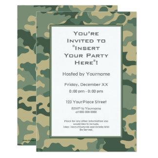Les militaires camouflent la partie carton d'invitation  12,7 cm x 17,78 cm