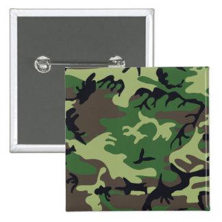 Les militaires camouflent le bouton badge carré 5 cm
