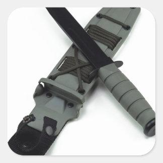 les militaires combattent le style de ka-barre de sticker carré