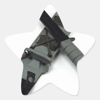 les militaires combattent le style de ka-barre de sticker étoile