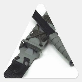 les militaires combattent le style de ka-barre de sticker triangulaire