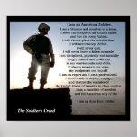 Les militaires de croyance de soldats posters