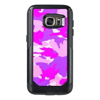 Les militaires Girly pourpres roses de Camo Coque OtterBox Samsung Galaxy S7