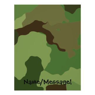 Les militaires traditionnels camouflent prospectus 21,6 cm x 24,94 cm
