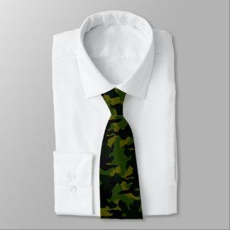 Les militaires verts approximatifs de Camo Cravates