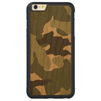 Les militaires verts de Camo refroidissent Coque Carved® Pare-chocs En Cerisier Pour iPhone 6