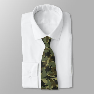 Les militaires verts kaki de Camo camouflent le Cravate