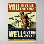 Les militaires vintages leur donnent l'affiche d'e