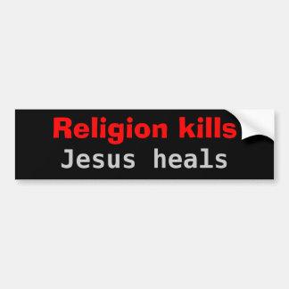 Les mises à mort Jésus de religion guérit Autocollant De Voiture