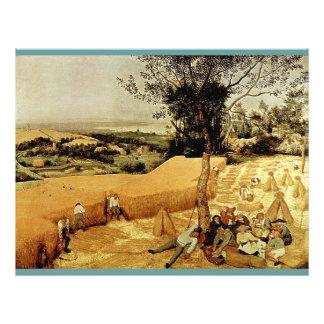 Les moissonneuses de Pieter Bruegel (1565) Prospectus 21,6 Cm X 24,94 Cm