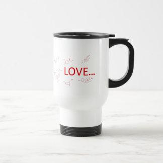 Les molécules de l'amour… mug de voyage