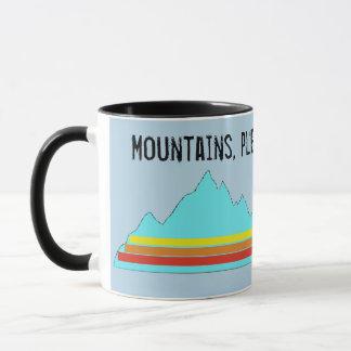 Les montagnes tasse satisfont et de Mercis