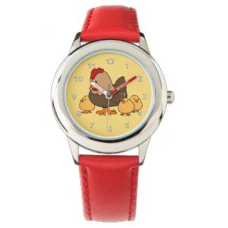 Les montres des enfants mignons de poulets