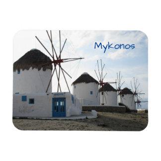 Les moulins à vent, Mykonos, Grèce Magnet Flexible