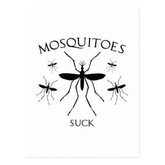 Les moustiques sucent cartes postales