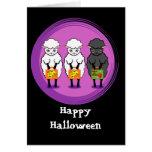 Les moutons noirs Halloween Cartes De Vœux
