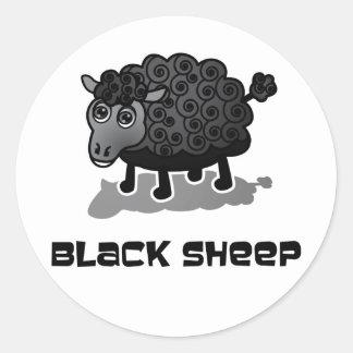 Les moutons noirs sticker rond