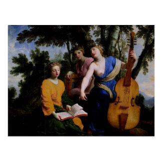 Les Muses Melpomene, Erato et Polymnia, 1652-55 Carte Postale