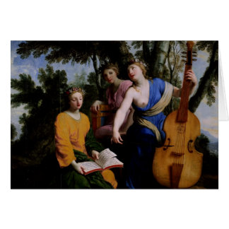 Les Muses Melpomene, Erato et Polymnia, 1652-55 Cartes
