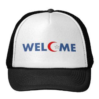 Les musulmans souhaitent la bienvenue ici casquette de camionneur