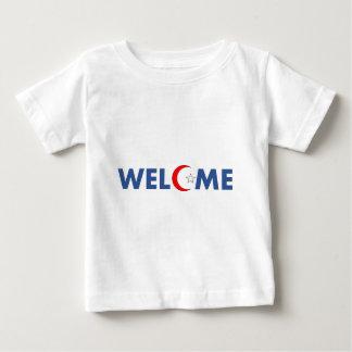 Les musulmans souhaitent la bienvenue ici t-shirt pour bébé