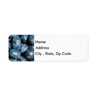 Les myrtilles renvoient l'étiquette de adresse étiquettes d'adresse retour