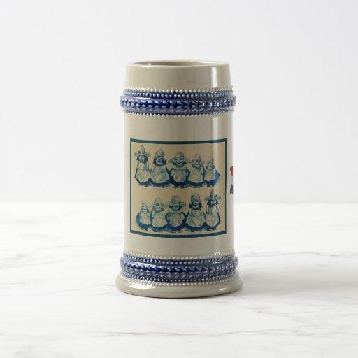 Les Néerlandais vintages conçoivent, 1905, petites Mug
