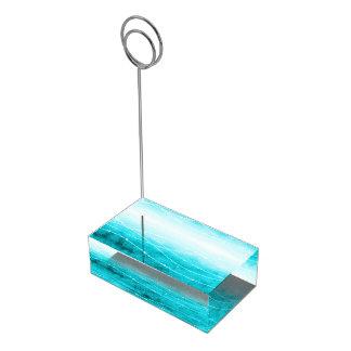 Les nombres de table d'eau de mer d'aqua de lavage porte-photos