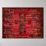 Les noms du Jésus-Christ de l'ART de bible Poster