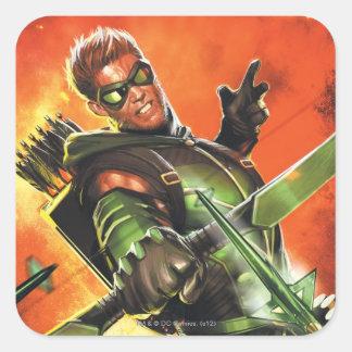 Les nouveaux 52 - la flèche verte #1 autocollant carré