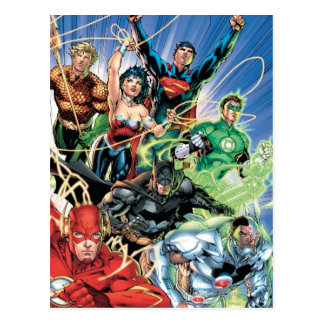 Les nouveaux 52 - ligue de justice #1 carte postale