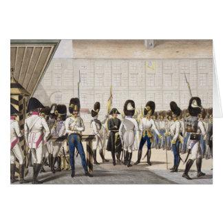 Les nouveaux grenadiers autrichiens royaux carte de vœux