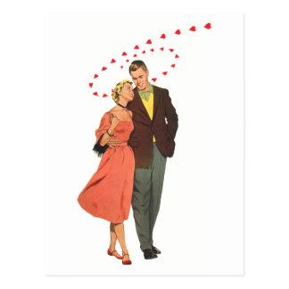 Les nouveaux mariés romantiques de mariage cartes postales