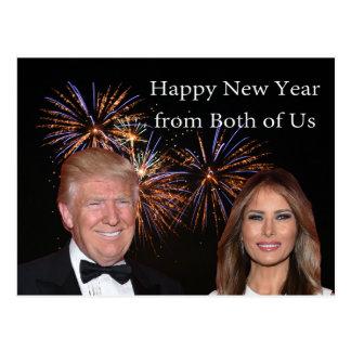 Les nouvelles années de carte de Donald et Melania