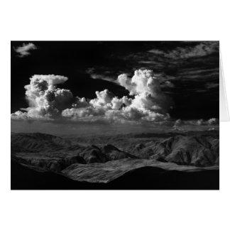 Les nuages au-dessus de l'Anza-Borrego Carte De Vœux