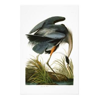 Les oiseaux de John Audubon de héron de grand bleu Papeterie