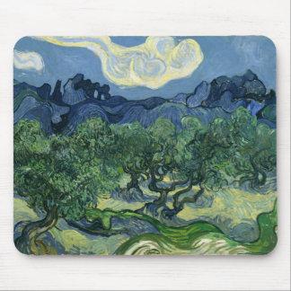 Les oliviers par des beaux-arts de Van Gogh Tapis De Souris