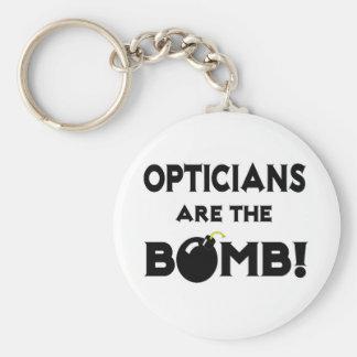 Les opticiens sont la bombe ! porte-clé rond