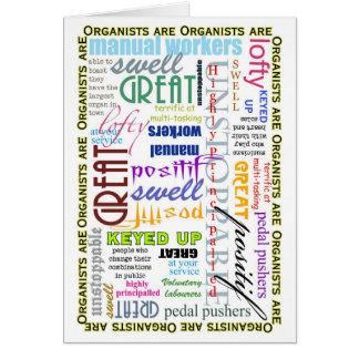 Les organistes sont tout carte vierge
