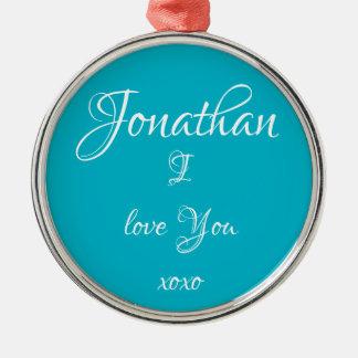"""Les ornements """"Jonathan mignon JE T'AIME"""""""