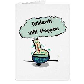 Les oxydants se produisent - humour de chimie carte de vœux