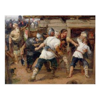 Les païens ont tué les premiers chrétiens carte postale