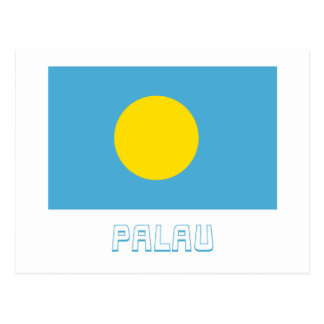 Les Palaos diminuent avec le nom Cartes Postales