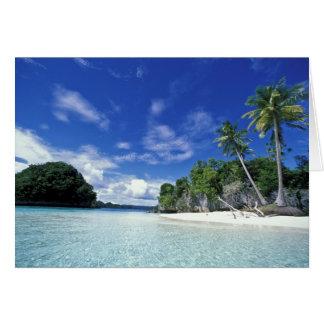 Les Palaos, îles de roche, île de lune de miel, Carte De Vœux