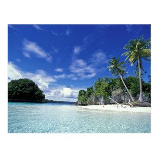Les Palaos îles de roche île de lune de miel mo Carte Postale