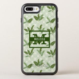 Les palmettes tropicales | ajoutent votre nom coque otterbox symmetry pour iPhone 7 plus