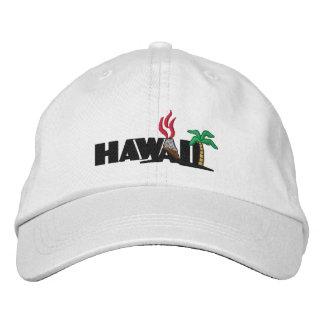 Les palmiers et les volcans hawaïens ont brodé le casquette brodée