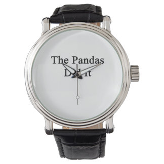 Les pandas l'ont fait montres cadran