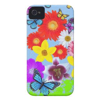 Les papillons et les fleurs refroidissent l'iPhone Coque iPhone 4